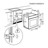 Интегрируемый духовой шкаф, Electrolux / объём: 74 л
