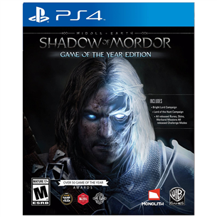 PS4 mäng Middle-earth: Shadow of Mordor Game of the Year Edition