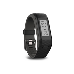 Aktiivsusmonitor Garmin Vivosmart HR+ / regular, must (136-192mm)
