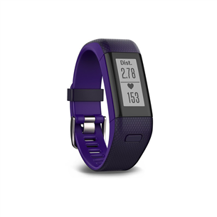 Aktiivsusmonitor Garmin Vivosmart HR+ / regular, lilla (136-192mm)