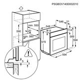 Integreeritav ahi Electrolux / ahju maht: 74 L