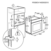 Integreeritav auruahi Electrolux / ahju maht 73 L