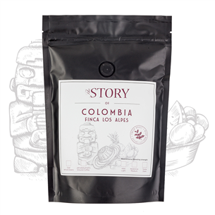 Coffee beans The Story Colombia Finca Los Alpes 250 g 4744364010256