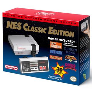 Mängukonsool Nintendo NES Classic + 30 mängu (tellimisel)