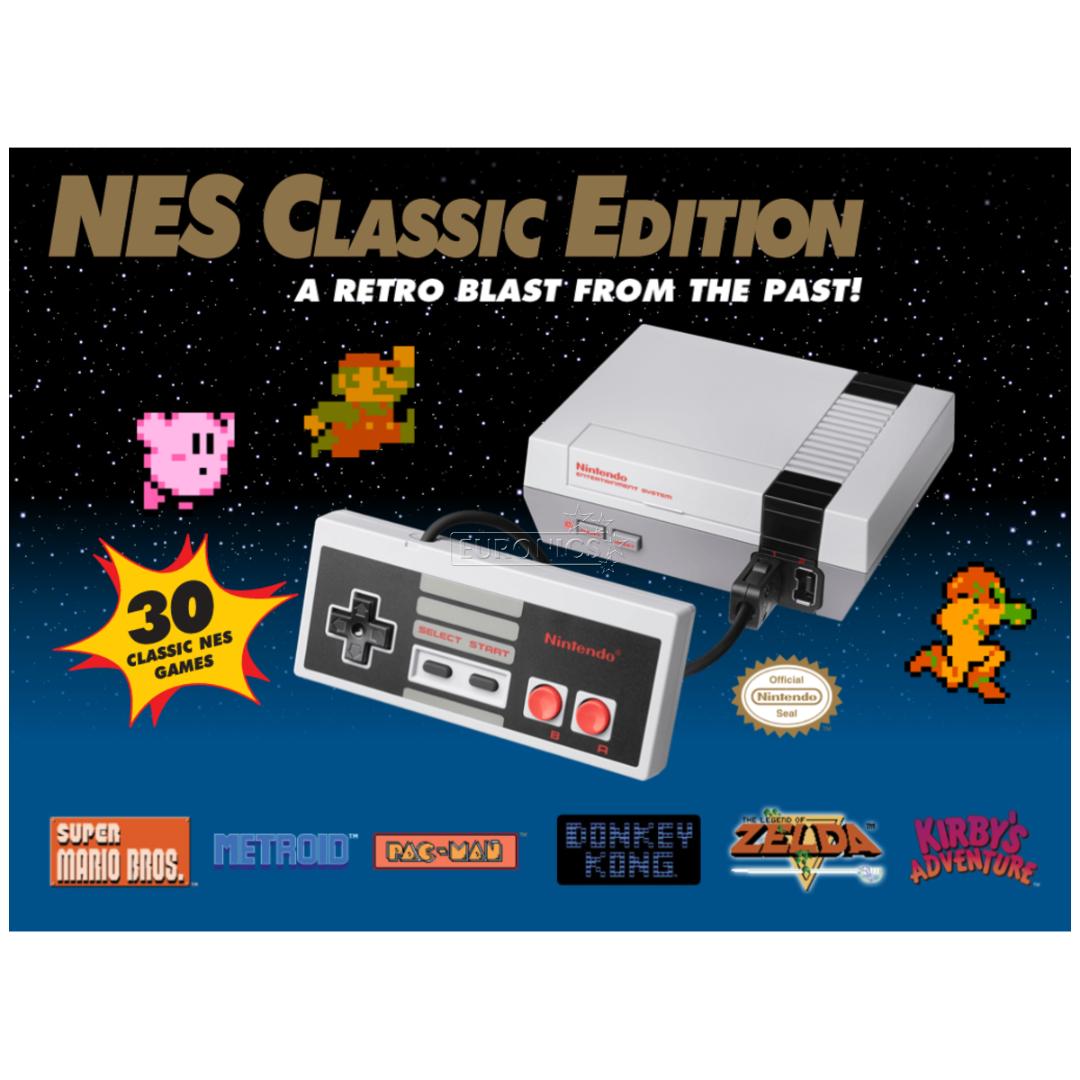Game Console Nes Classic Nintendo 30 Games Nesclassic