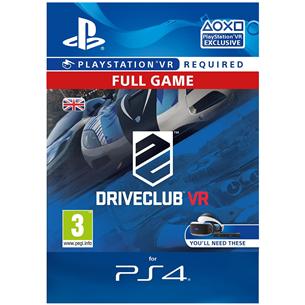 PS4 VR mäng Driveclub