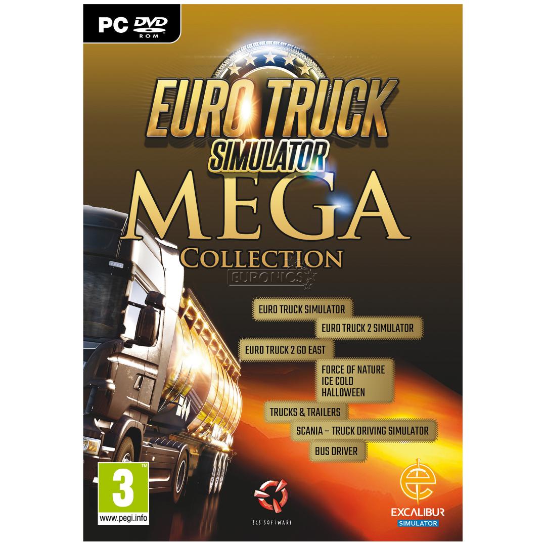 pc game euro truck simulator 2 mega collection 5055957700355. Black Bedroom Furniture Sets. Home Design Ideas