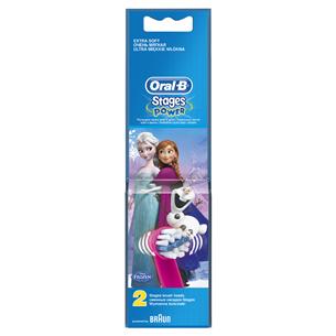Насадки для зубной щётки Oral-B Kids Stages Power Frozen, Braun / 2 шт.