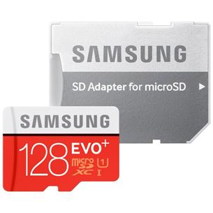 Micro SDXC mälukaart + adapter Samsung EVO+ (128 GB)
