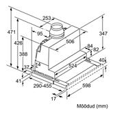 Вытяжка, Bosch / 710 м³/ч