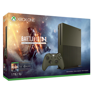 Mängukonsool Microsoft Xbox One S (1 TB) Battlefield 1 Limited Edition