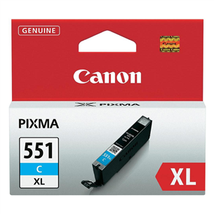 Tindikassett Canon CLI-551XLC (tsüaan)