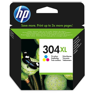 Ink cartridge HP 304XL / tri-colour N9K07AE#UUS