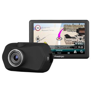 Videoregistraator Prestigio RoadRunner 140 + GPS-seade GeoVision 5068 Mireo