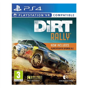 PS4 VR game Dirt Rally