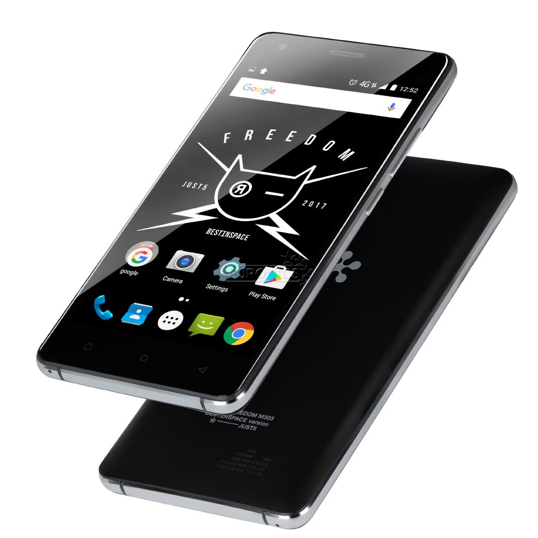 smartphone just5 freedom m303 dual sim freedomm303 black. Black Bedroom Furniture Sets. Home Design Ideas
