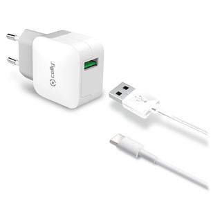 Toalaadija + USB tüüp-C juhe Celly