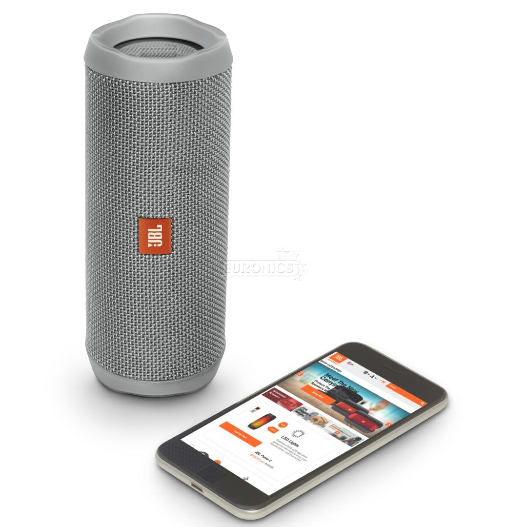 wireless portable speaker jbl flip 4 jblflip4gry. Black Bedroom Furniture Sets. Home Design Ideas