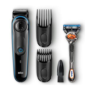 Habeme- ja juuksepiirel Braun BT3040 + Gillette Fusion raseerija