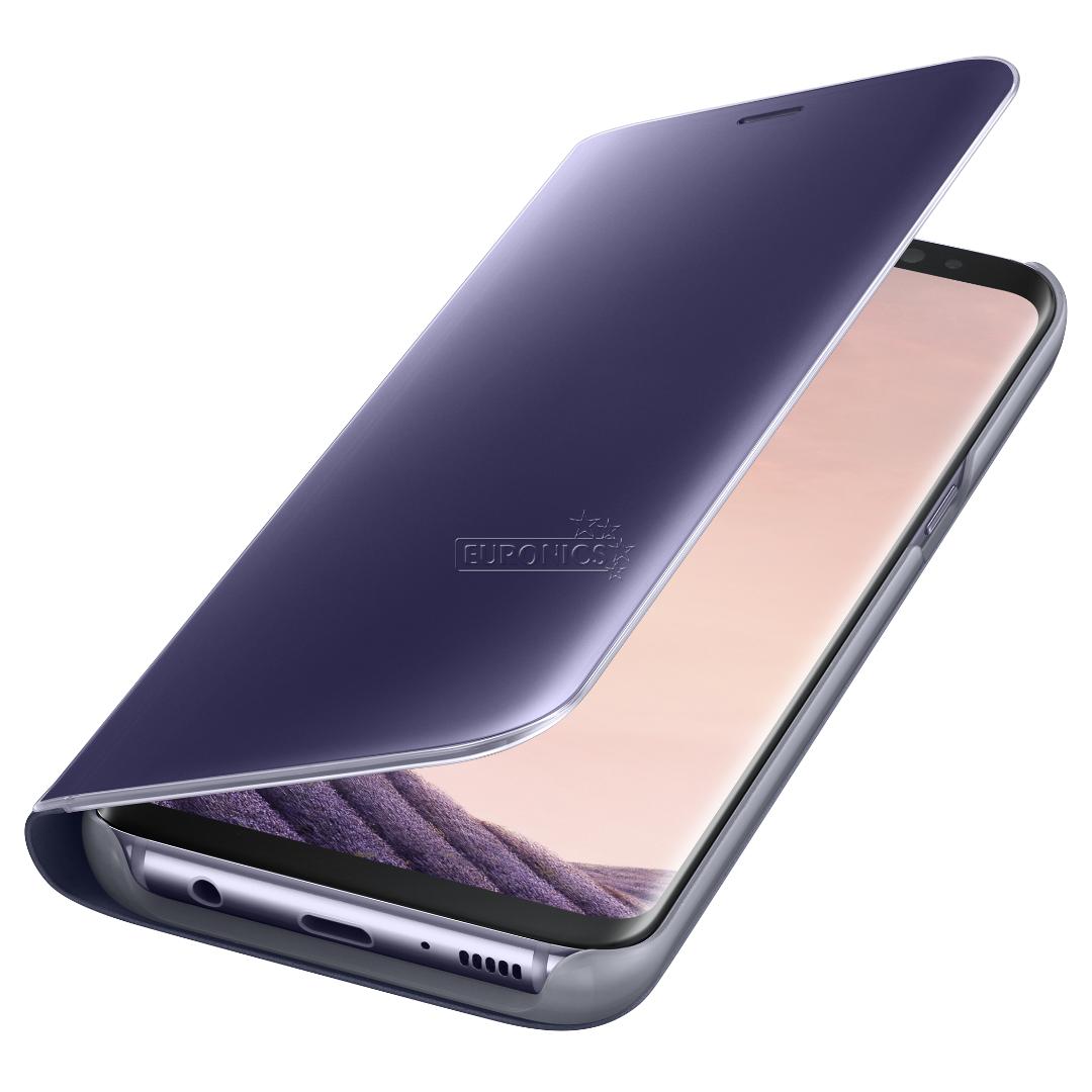 Phone Card Holder >> Samsung Galaxy S8 Clear View Standing Cover, EF-ZG950CVEGWW
