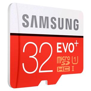 Micro SDHC mälukaart + adapter Samsung EVO+ (32 GB)
