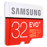Micro SDHC memory card + adapter Samsung EVO+ (32 GB)