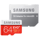 Micro SDXC memory card + adapter Samsung EVO+ (64 GB)