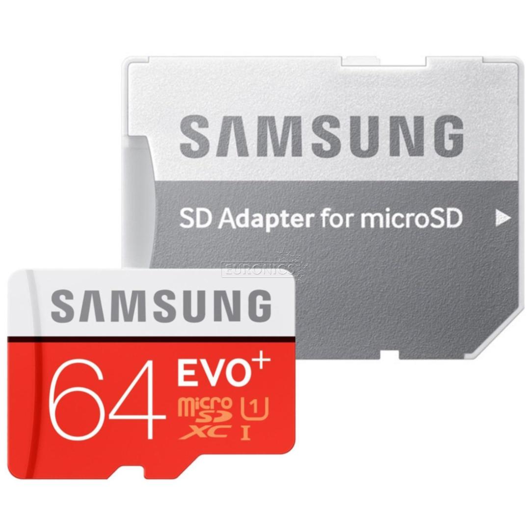 Micro SDXC Memory Card Adapter Samsung EVO 64 GB MB MC64GA EU