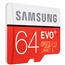 Micro SDXC mälukaart + adapter Samsung EVO+ (64 GB)