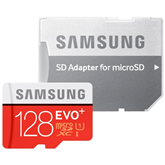 Micro SDXC memory card + adapter Samsung EVO+ (128 GB)