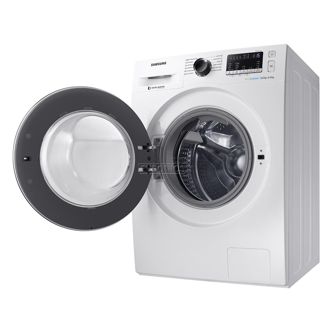 washing machine dryer samsung 8kg 6kg wd80m4443jw le. Black Bedroom Furniture Sets. Home Design Ideas