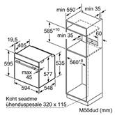 Integreeritav ahi koos aurufunktsiooniga Bosch