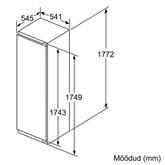Интегрируемый холодильный шкаф Bosch (высота: 178 см)