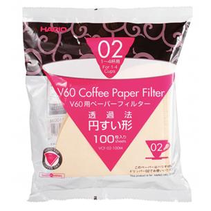 Paper filter V60 02, 100 sheets, Hario VCF-02-100W
