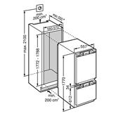 Integreeritav külmik Liebherr / kõrgus 177,2 cm