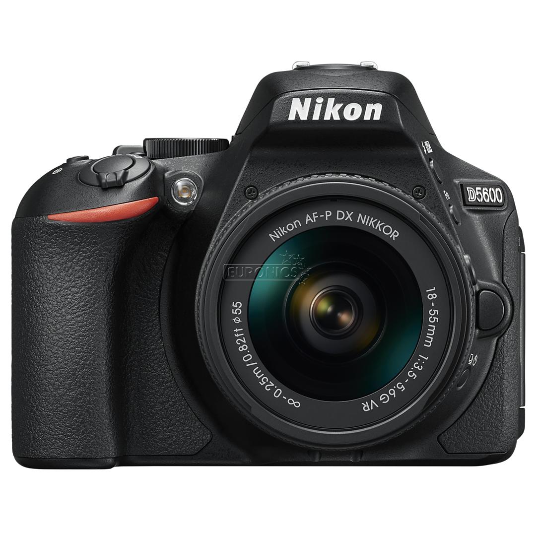 DSLR camera Nikon D5600 + NIKKOR 18-55 mm lens