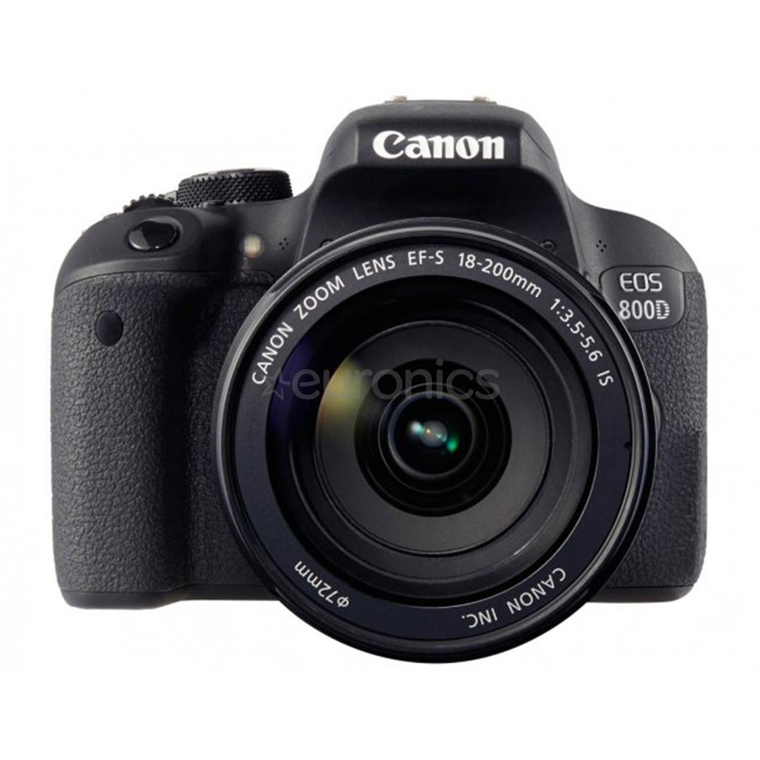 DSLR camera Canon EOS 800D + 18-200 mm lens, 1895C031