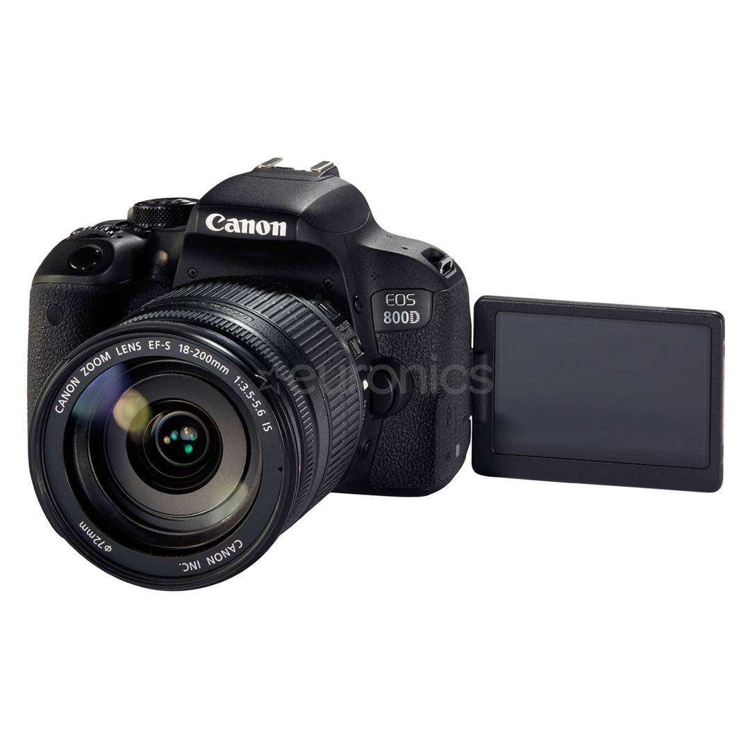 dslr camera canon eos 800d 18 200 mm lens 1895c031. Black Bedroom Furniture Sets. Home Design Ideas