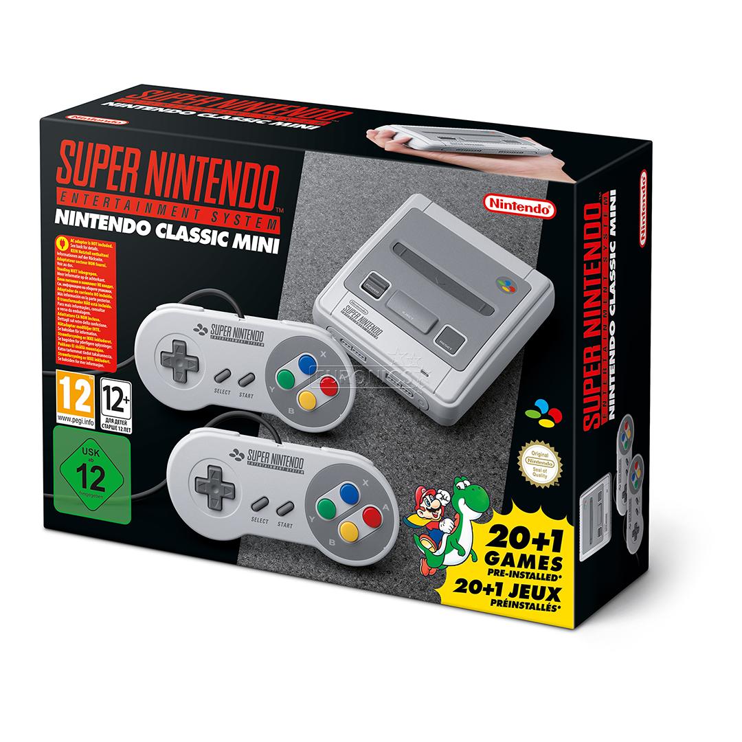Game console nintendo snes classic mini 21 games snesmini - Snes classic game console ...