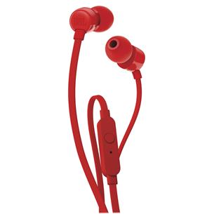 Earphones JBL T110 JBLT110RED
