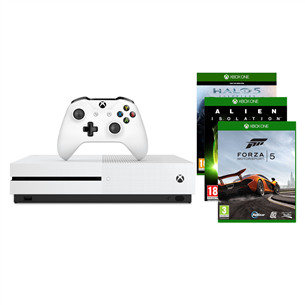 Mängukonsool Xbox One S (1 TB) + 3 mängu