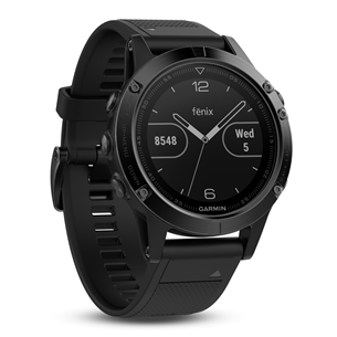 GPS watch Garmin fēnix 5 Sapphire - Black with black band