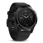 Мультиспортивные часы FENIX 5, Sapphire, Garmin - с чёрным ремешком