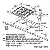 Integreeritav gaasiplaat Bosch