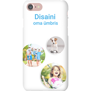 Disainitav iPhone 7 matt ümbris / Snap