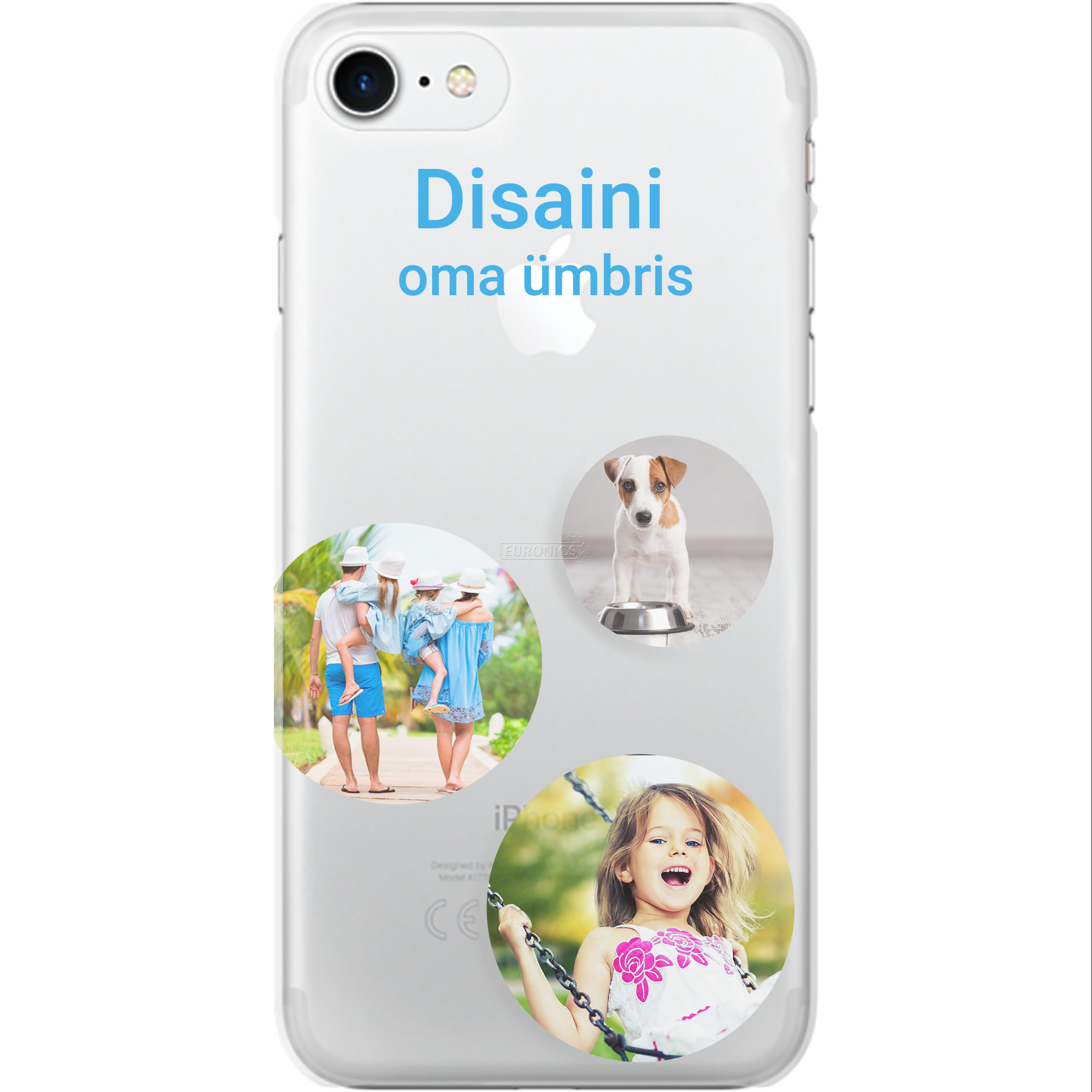 Personalized Iphone 7 Glossy Case Clear