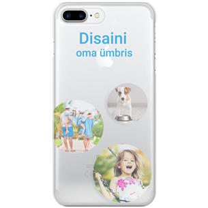 Disainitav iPhone 7 Plus matt ümbris / Clear