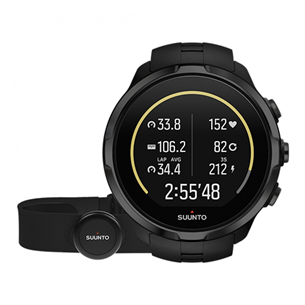 Spordikell Suunto Spartan Sport All Black Wrist HR + pulsivöö