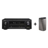 Receiver Denon AVRX1400H + wireless multiroom speaker HEOS 1