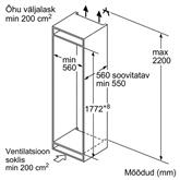 Built-in freezer Bosch (211 L)